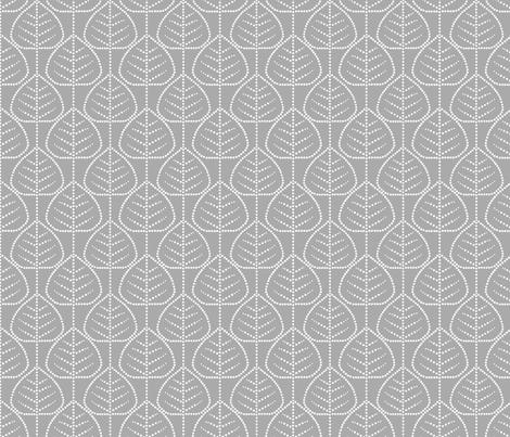 Leaf (gray) fabric by pattern_bakery on Spoonflower - custom fabric