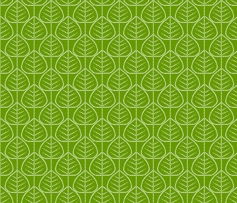 Leaf (green) fabric by pattern_bakery on Spoonflower - custom fabric