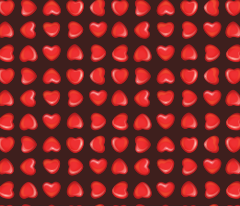 Cinnamon Hearts fabric by bucketface on Spoonflower - custom fabric