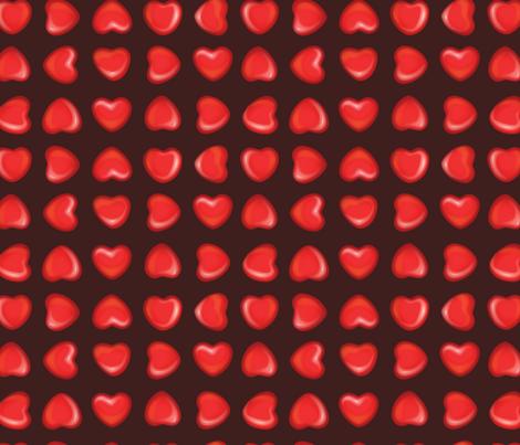 Cinnamon Hearts fabric by bucketface on Spoonflower - custom fabric