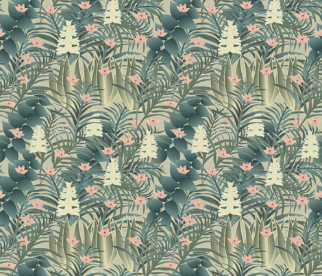 jungle 2 fabric by kociara on Spoonflower - custom fabric
