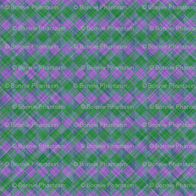 Argyle Checker Plaid Linen - Lavender Green