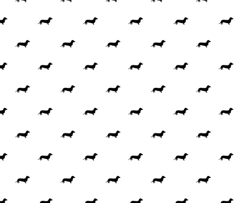 Dachshund Dots Black fabric by ben_goetting on Spoonflower - custom fabric