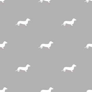 Dachshund Dots Grey