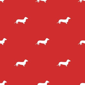 Dachshund Dots Red