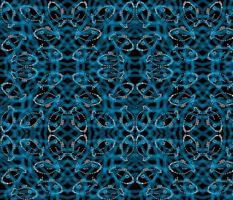 Turquoise Swirly Fish fabric by telden on Spoonflower - custom fabric