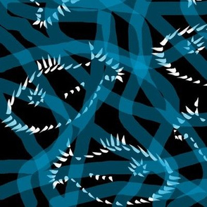 Turquoise Swirly Fish