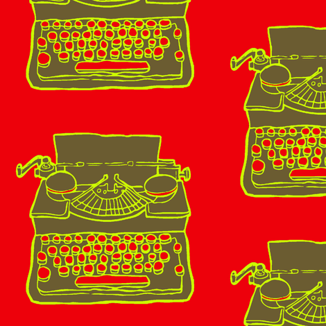 typewriter fabric by looksey+howe on Spoonflower - custom fabric