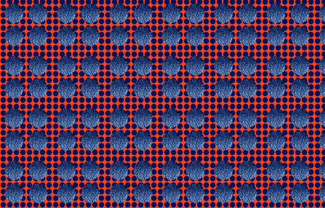 Blue Loves Orange fabric by lesfleursdemimi on Spoonflower - custom fabric