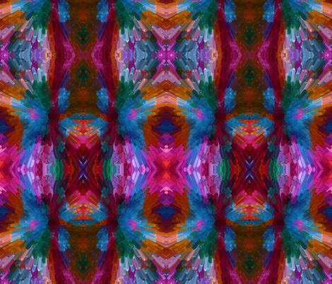 Rainbow Explosion in a Mirror Repeat fabric by anniedeb on Spoonflower - custom fabric
