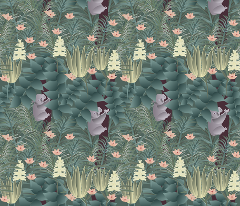 koala fabric by kociara on Spoonflower - custom fabric