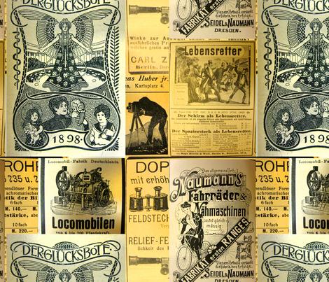 German Advertisements fabric by callioperosehandcarjones on Spoonflower - custom fabric