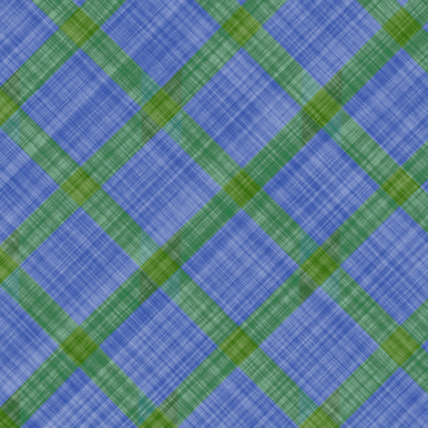 Grid Plaid Linen - Green Blue fabric by bonnie_phantasm on Spoonflower - custom fabric