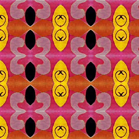 """Hot pink and yellow"" fabric by elizabethvitale on Spoonflower - custom fabric"