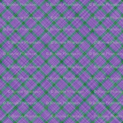 Grid Plaid Linen - Lavender Green