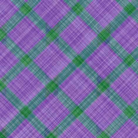 Grid Plaid Linen - Lavender Green fabric by bonnie_phantasm on Spoonflower - custom fabric