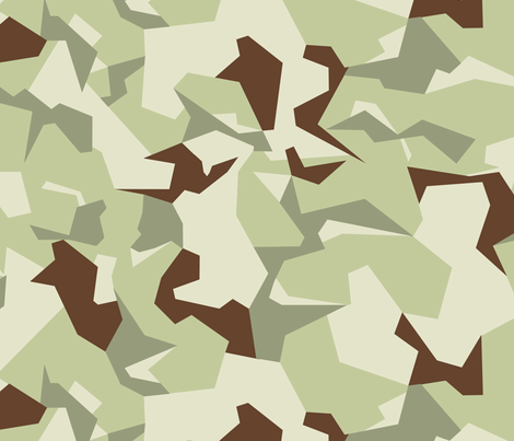 Swedish M90 Desert Camo fabric by ricraynor on Spoonflower - custom fabric
