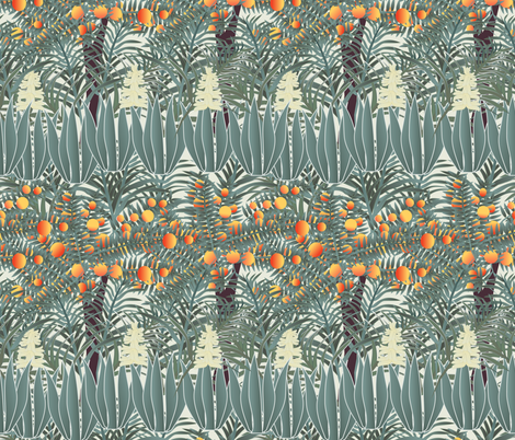 orange tree 4 fabric by kociara on Spoonflower - custom fabric