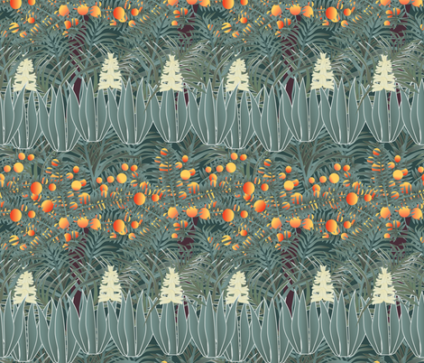 orange tree 3 fabric by kociara on Spoonflower - custom fabric