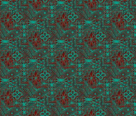 Kalakaua Ave  blue lobster fabric by sophista-tiki on Spoonflower - custom fabric