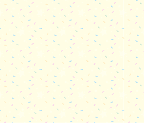 Pastry Palace - Yellow - Sprinkles fabric by frostedfleurdelis on Spoonflower - custom fabric