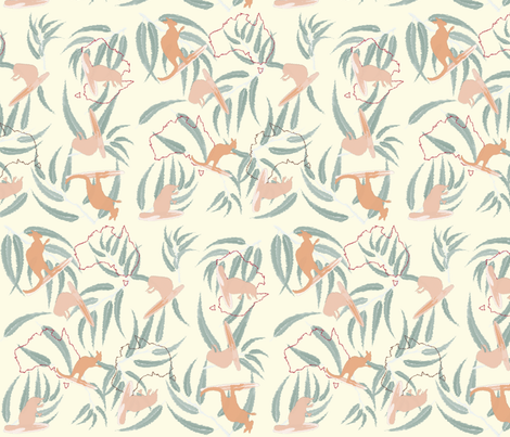 Surf's Down...Under fabric by grafikat on Spoonflower - custom fabric