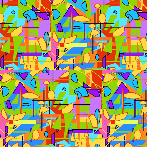 Summersaults and Cartwheels  fabric by kcs on Spoonflower - custom fabric