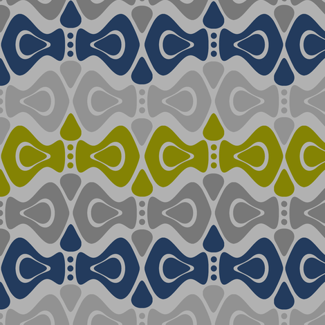 Bouncing Stripes- Olive & Navy fabric by dianef on Spoonflower - custom fabric