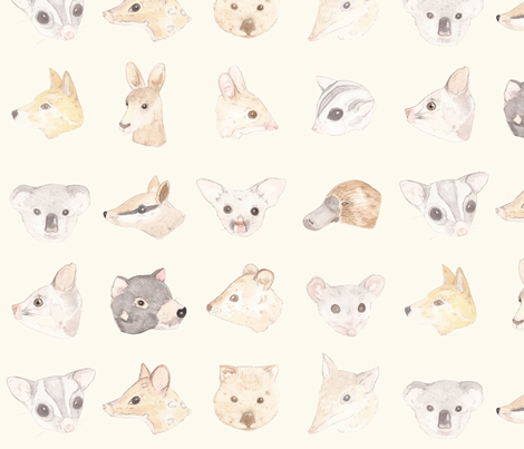 Australian Mammals fabric by meganmckean on Spoonflower - custom fabric