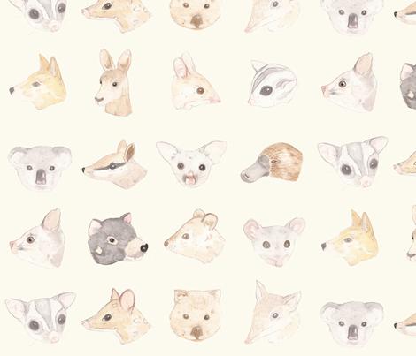 Australian Mammals fabric by meganmckean on Spoonflower - custom fabric