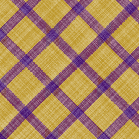 Grid Plaid Linen - Purple Yellow
