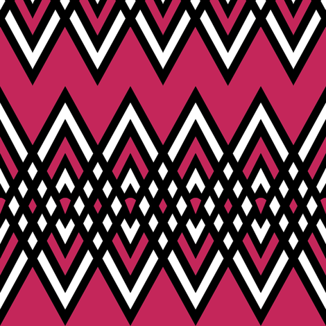 Diamond and Pink Stripe fabric by pond_ripple on Spoonflower - custom fabric