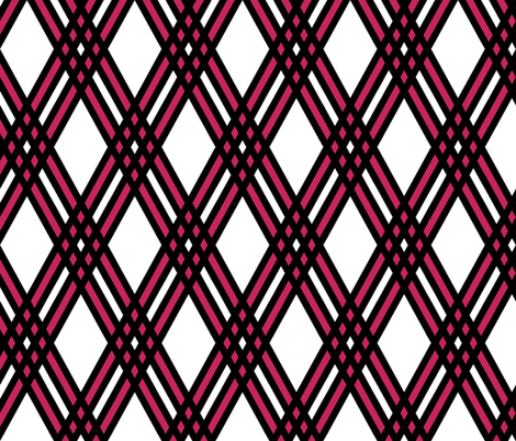 Diamond and Pink Plaid fabric by pond_ripple on Spoonflower - custom fabric
