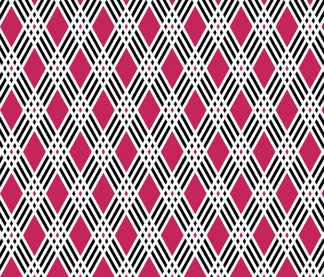 Diamond & Pink Plaid fabric by pond_ripple on Spoonflower - custom fabric