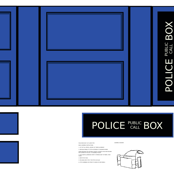 Police Box Messenger Bag Cut-and-sew