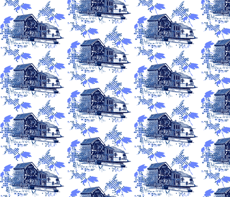Hannibal / blue fabric by paragonstudios on Spoonflower - custom fabric