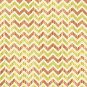 Chevrons-Orange-Mustard