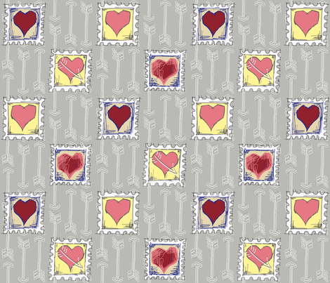 Cupids_Arrow_Stamps fabric by dermotogrady on Spoonflower - custom fabric