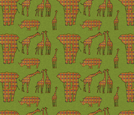Africa fabric by mammajamma on Spoonflower - custom fabric