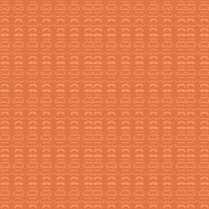 Orange Mustache Fabric