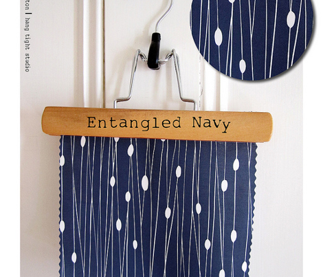 Entangled Geometric Lines Navy Blue