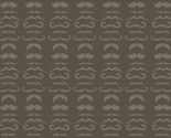 Dark Gray Mustache Fabric