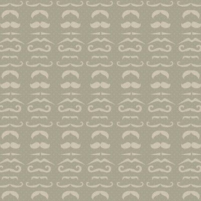 Gray Mustache Fabric