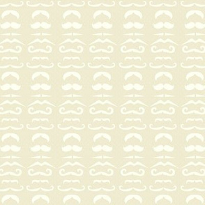 Cream Mustache Fabric