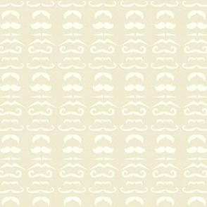 Cream Mustache Fabric