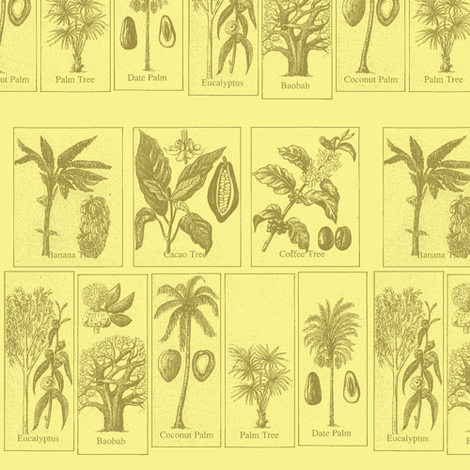 Tropical Trees 2 fabric by nalo_hopkinson on Spoonflower - custom fabric