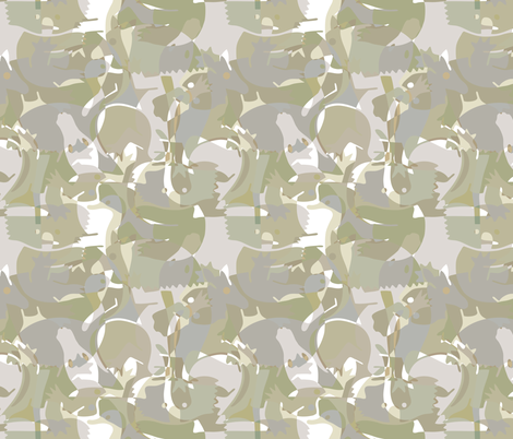 Australian camouflage fabric by heleenvanbuul on Spoonflower - custom fabric
