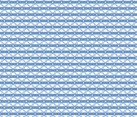 blue and white fabric by clarissagunndesign on Spoonflower - custom fabric