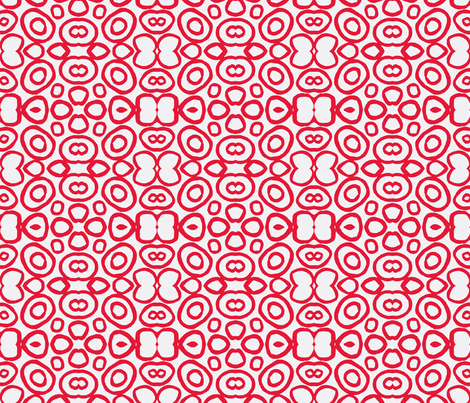 Red Circles on White fabric by bymarie on Spoonflower - custom fabric