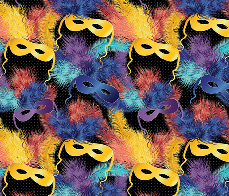 party masks fabric by kociara on Spoonflower - custom fabric